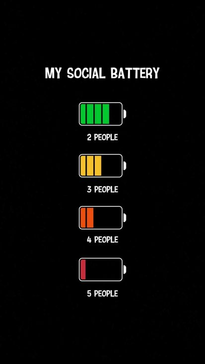 My Social Battery iPhone Wallpaper