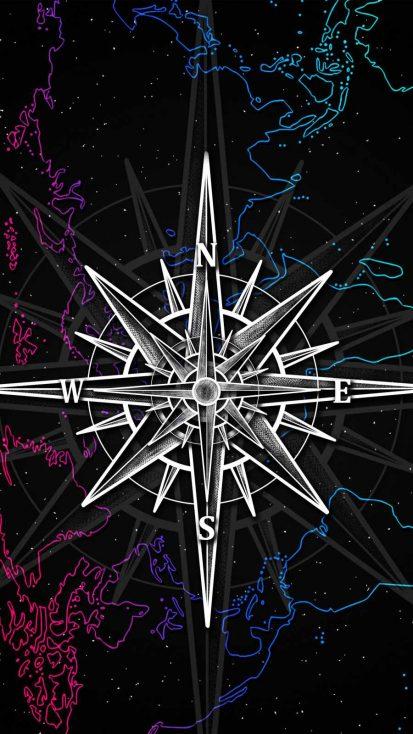 Navigator Compass iPhone Wallpaper