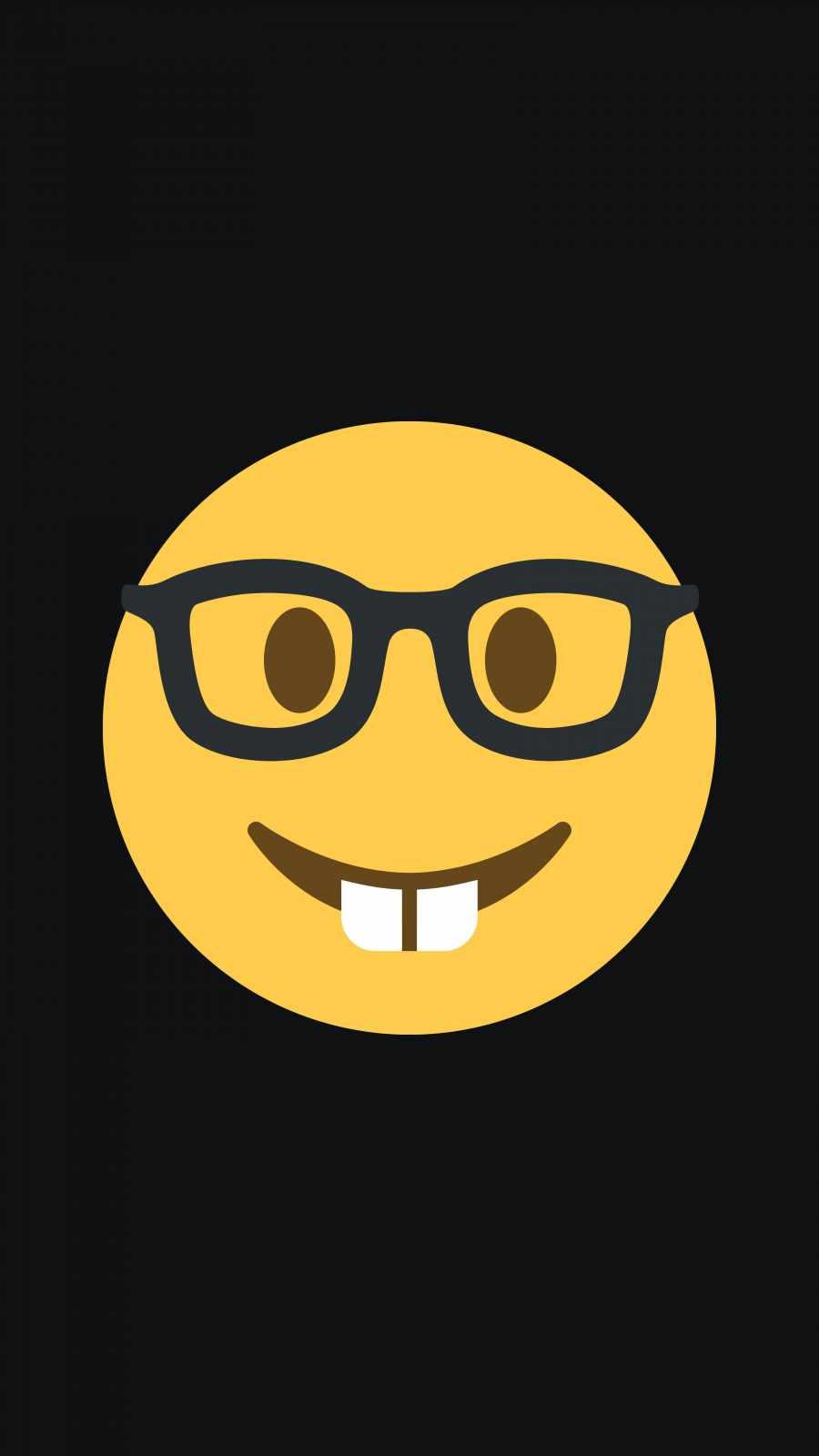Nerd Emoji iPhone Wallpaper