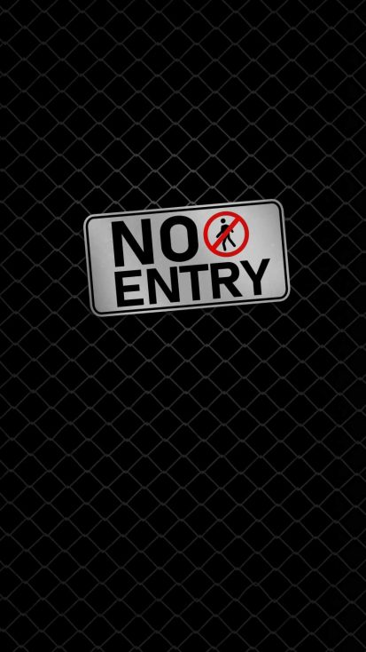 No Entry iPhone Wallpaper