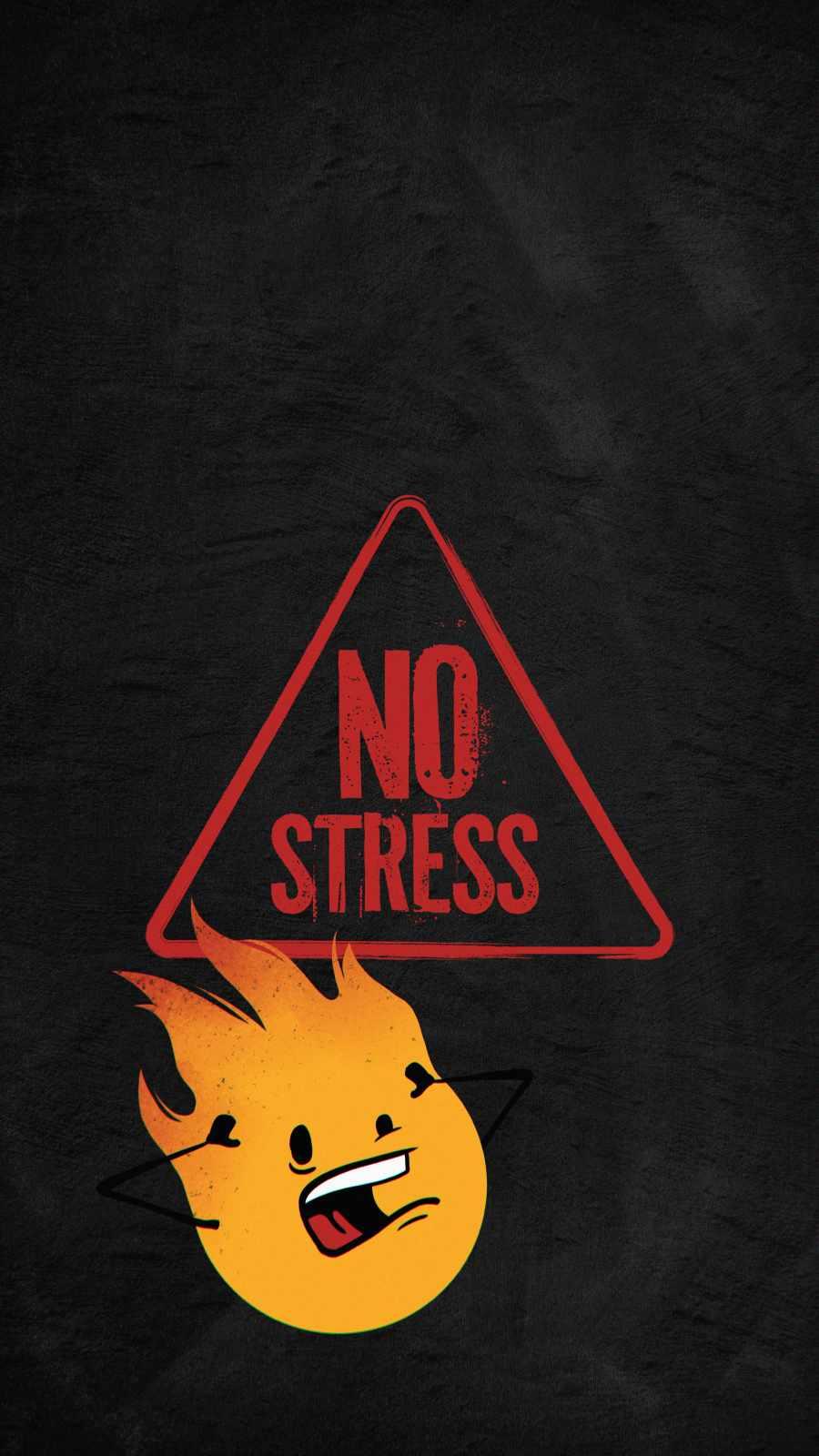 No Stress iPhone Wallpaper
