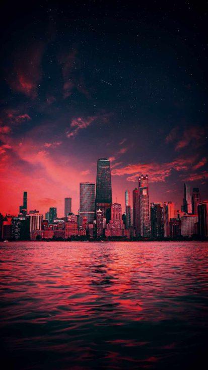 Ocean City iPhone Wallpaper
