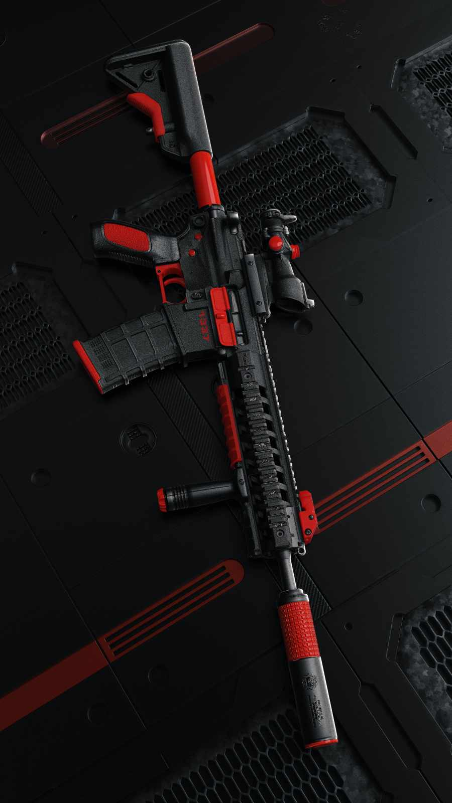 PUBG Rifle iPhone Wallpaper