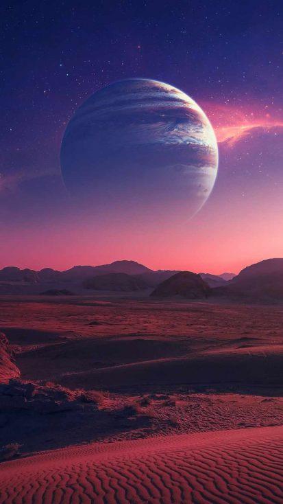 Planet Desert iPhone Wallpaper