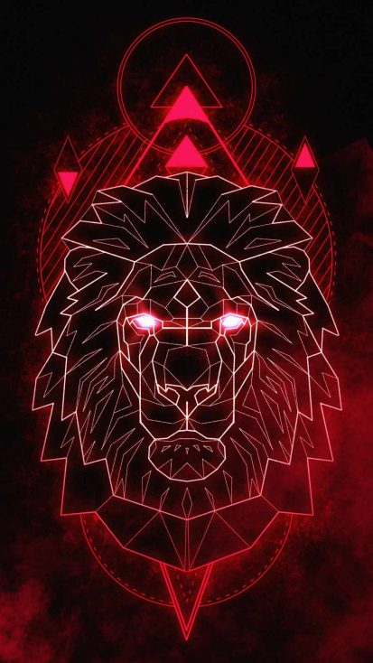Polygon Lion iPhone Wallpaper