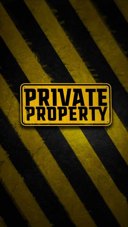 Private Property iPhone Wallpaper
