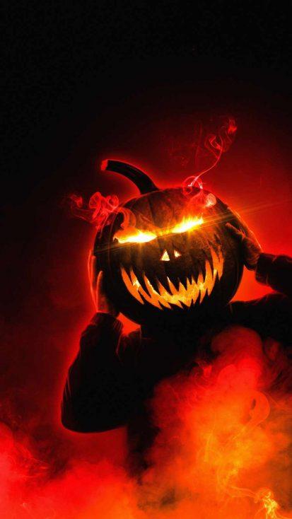 Pumpkin Face Halloween iPhone Wallpaper