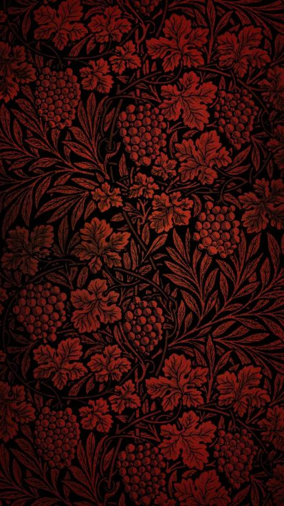 Red Foliage Design iPhone Wallpaper