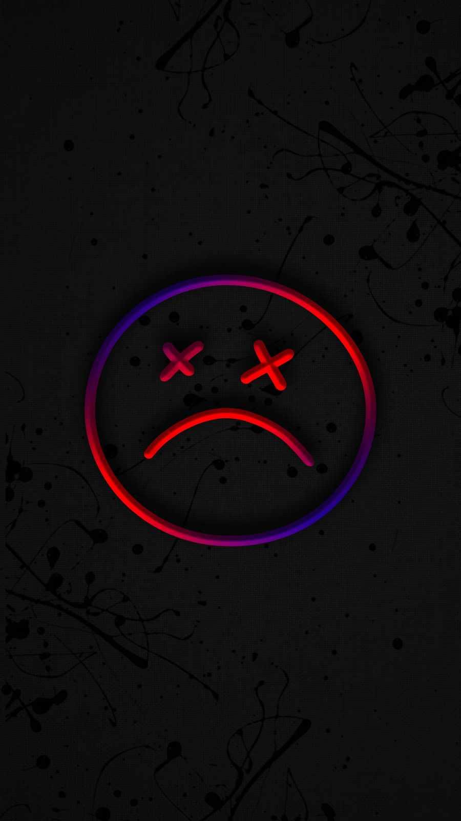 Sad Face iPhone Wallpaper