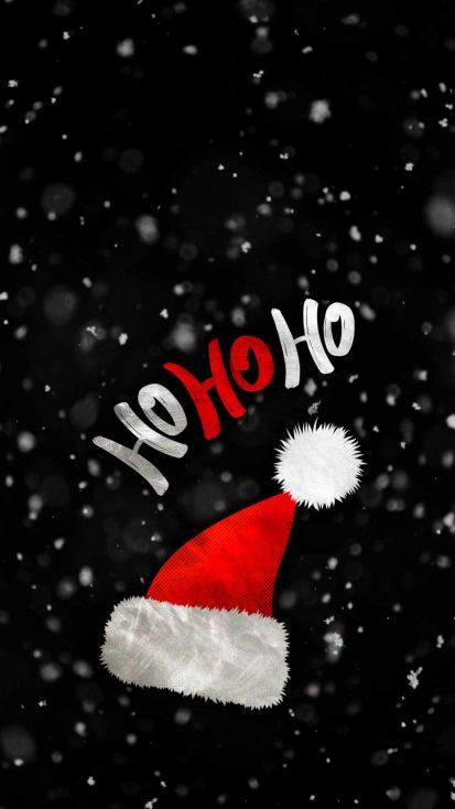Santa Hat iPhone Wallpaper