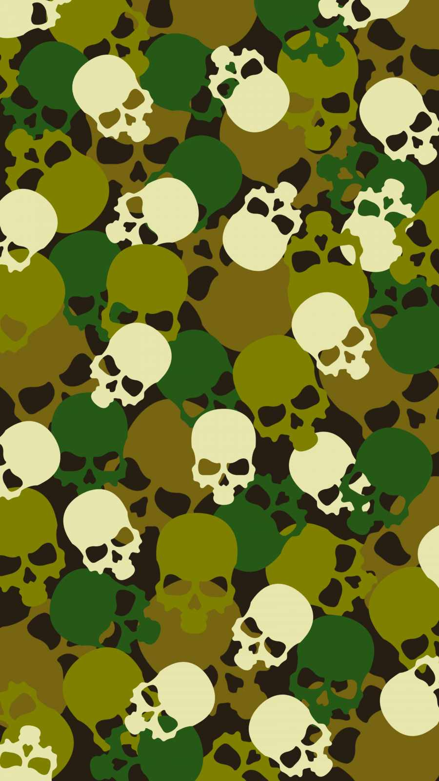 Skulls Pattern iPhone Wallpaper