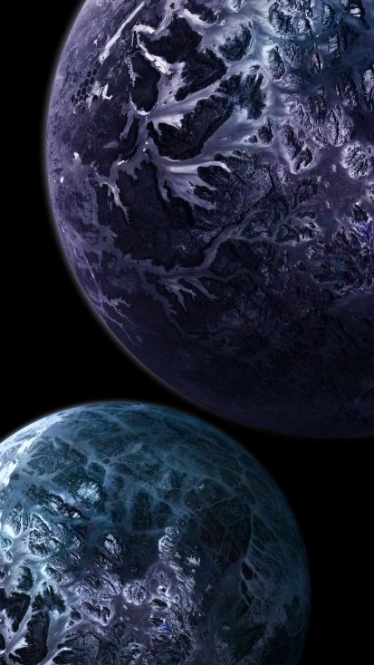 Space Extraterrestrial Planets iPhone Wallpaper