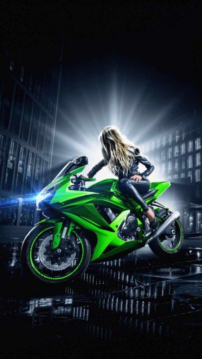 Superbike Girl iPhone Wallpaper