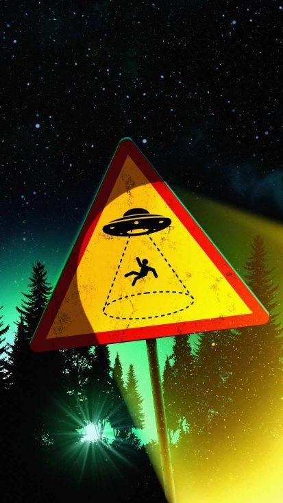 UFO Area iPhone Wallpaper