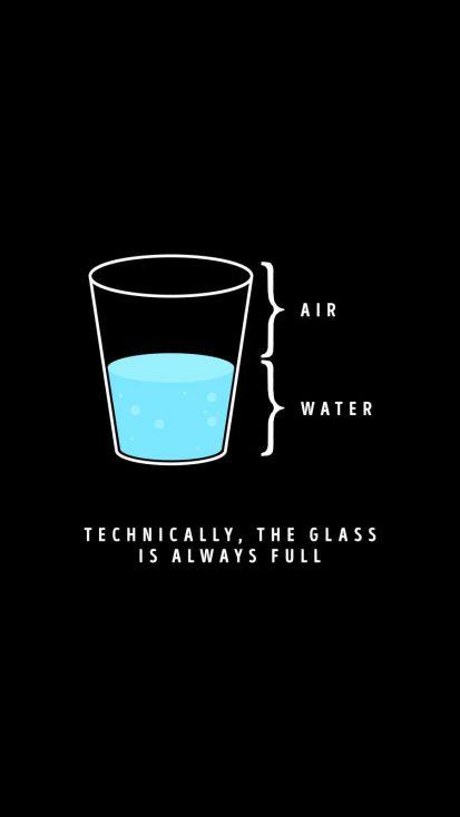 Water Glass iPhone Wallpaper