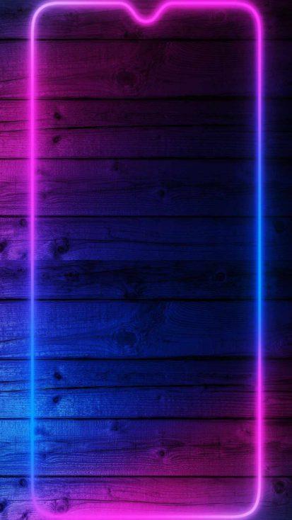 Wood Neon Phone Background iPhone Wallpaper