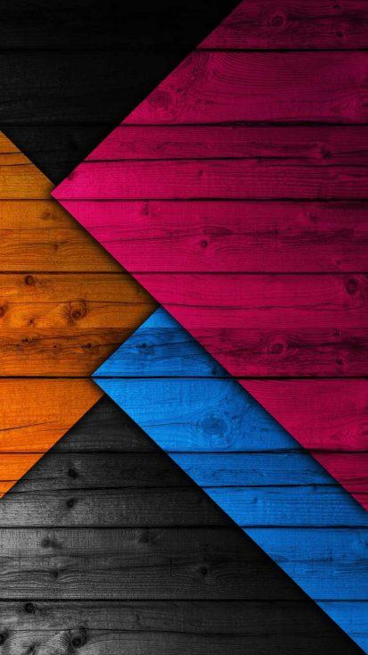 Wooden Colors iPhone Wallpaper