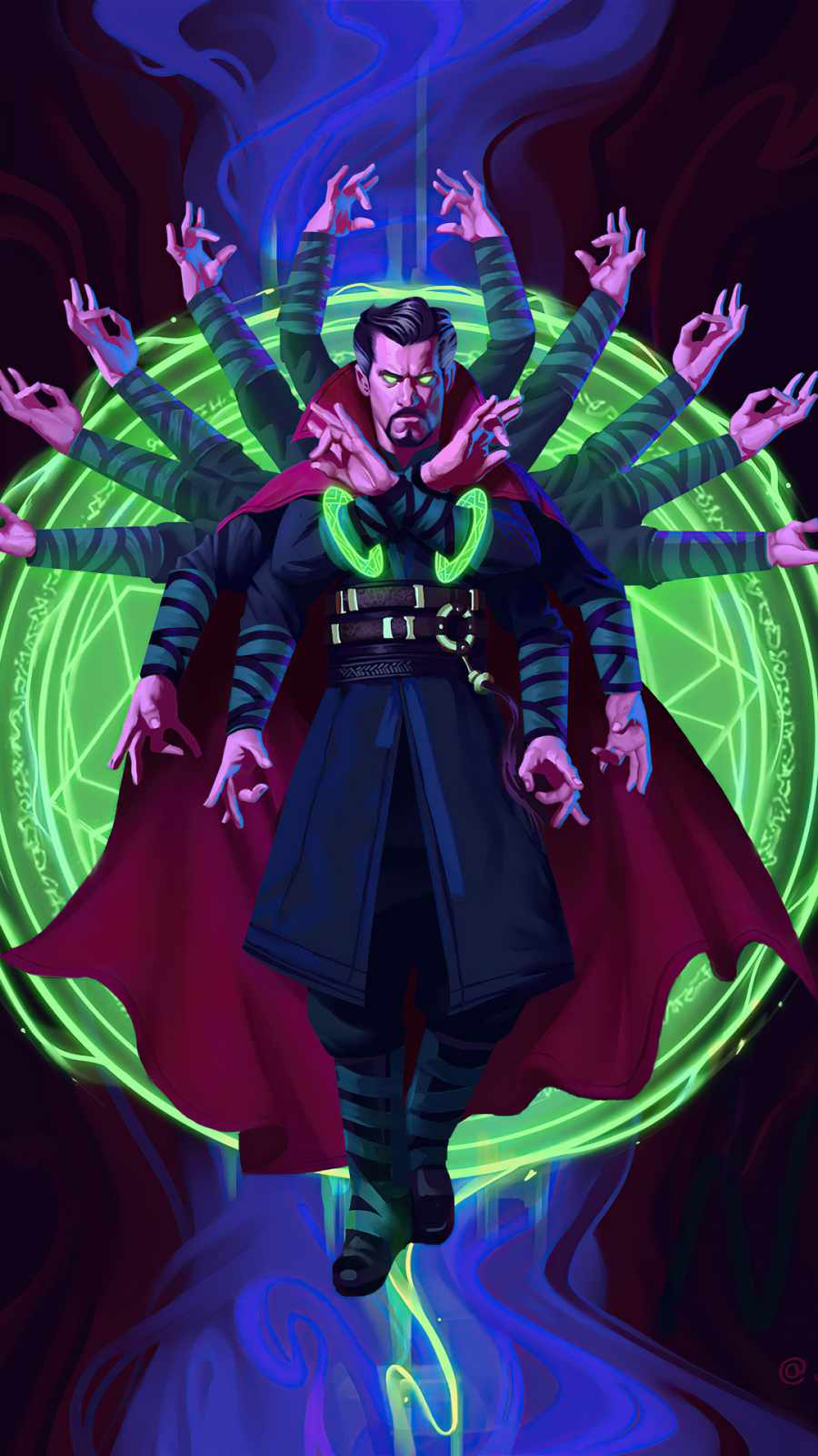 dr strange look into the eye