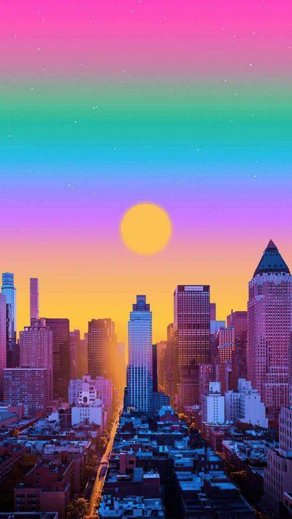 new york morning iPhone Wallpaper